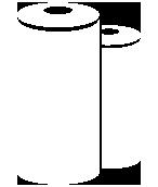Icono bobinas en blanco